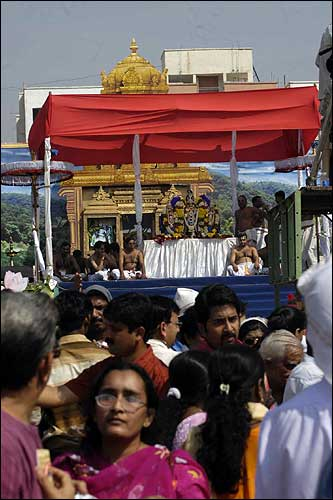 Devotees attending the marriage